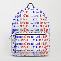 I love Washington-washington,washingtonian,american rome,dc,white house Backpack by oldking