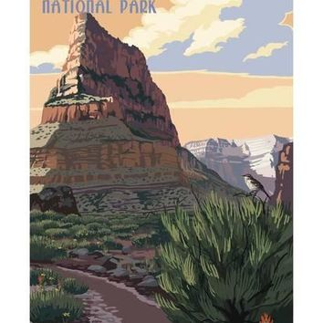 Grand Canyon National Park - Hermit Trail Art Print by Lantern Press at Art.com