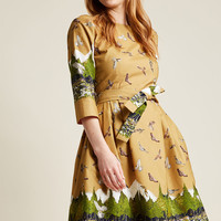 Palava Day Trip Darling Midi Dress in Mountain
