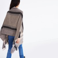 Placed Plaid Cape Scarf : | Madewell