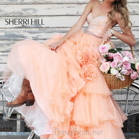 Sweetheart Beaded Ball Gown Sherri Hill Prom Dress 21358