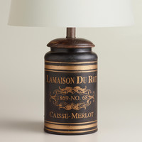 Black French Canister Accent Lamp - World Market