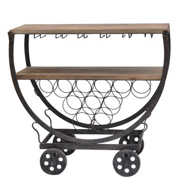 Crestview Wine Rack Cart - CVFZR451