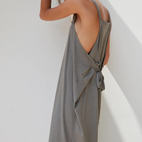 Silence + Noise Apron Wrap Midi Dress | Urban Outfitters