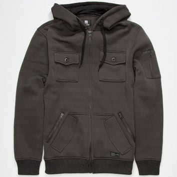 Elixir Mens Hooded Jacket Charcoal  In Sizes