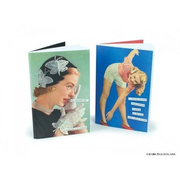 Set of Two 80-Page Notebooks by Anne Taintor