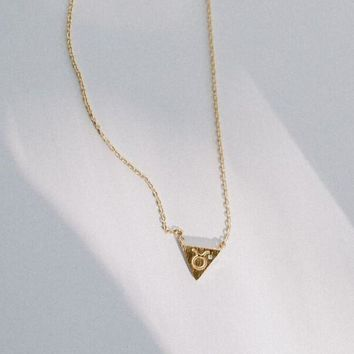 Zodiac Charm Necklace In Gold - Taurus