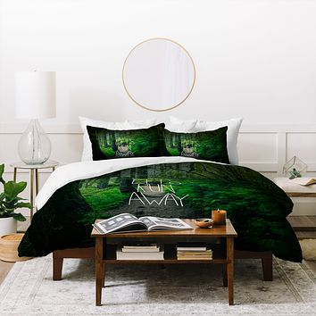 Leah Flores Lets Run Away 1 Duvet Cover