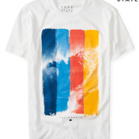 Free State Multicolor Wave Graphic T
