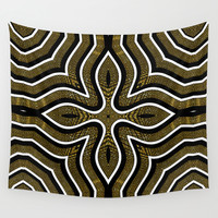Shapiraz Gold Wall Tapestry by Webgrrl