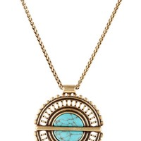 Lucky Brand Turquoise Major Necklace