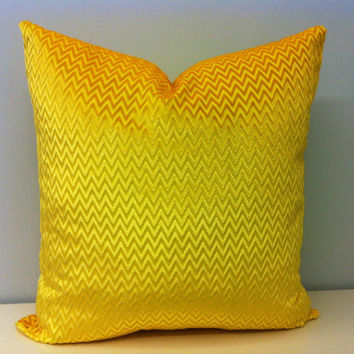 Set of 2 Chevron Yellow Velvet Pillow Cover Yellow Pillows Velvet Pillow Pillow ın Yellow Yellow Cushion Covers Yellow Velvet Throw Pillows