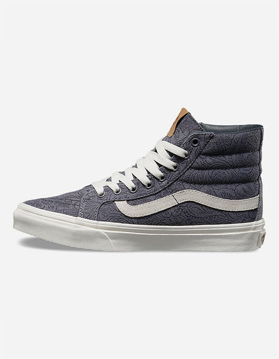 e1bac2c6d7 Vans Motif Floral Sk8-Hi Slim Womens Shoes Grey In Sizes
