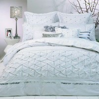 Solitaire White Quilt Cover by Ultima - Quilt & Doona Covers - Bed Linen