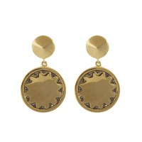 House of Harlow 1960 Jewelry Incan Sun Coin Drop Earring