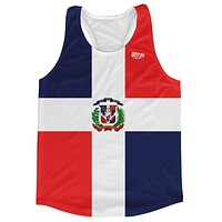 Dominican Republic Country Flag Running Tank Top Racerback Track and Cross Country Singlet Jersey