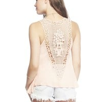 Wet Seal Women's Crochet Back Tank
