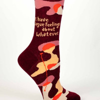 I Have Vague Feelings About Whatever Women's Socks