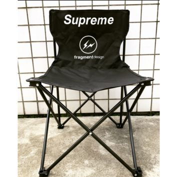 Supreme folding chair balcony beach fishing chair outdoor sports camping bench chair thick portable stool.