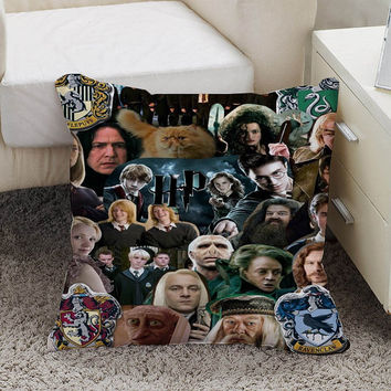 Harry potter Pillow case size 16 x 16, 18 x 18, 16 x 24, 20 x 30, 20 x 26 One side and Two side