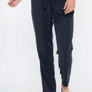 Flynn Tencel Tie Pants in Indigo