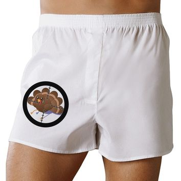 Turkey Trouble - Thanksgiving Funny Boxers Shorts