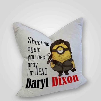 Daryl dixon minion, pillow case, pillow cover, cute and awesome pillow covers
