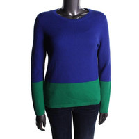 Tommy Hilfiger Womens Knit Colorblock Sweater