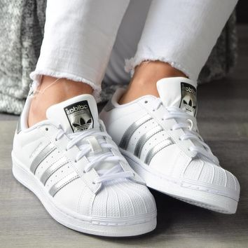 Adidas Originals SUPERSTAR White/Silver Casual Sneakers