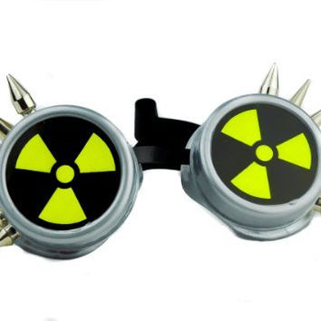 Cyber Bio Hazard Spike Goggles Cosplay Radiation Sign Glasses