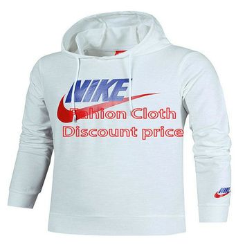 Nike Sweater Mens Slub cotton L-4XL White