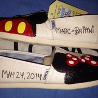 Disney Inspired Wedding Custom TOMS Shoes