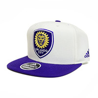 MLS Orlando City SC Men's Jersey Hook Snapback Cap, One Size, Navy/Orange