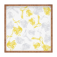 Vy La Bright Breezy Tulips Square Tray