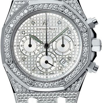 Audemars Piguet Royal Oak Chronograph Diamond White Gold Men\'s Watch