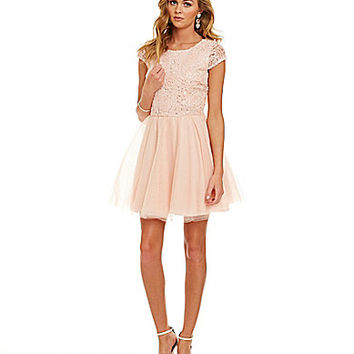 Honey and Rosie Soutache and Tulle Party Dress | Dillards.com