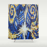 Dr Who Shower Curtain by Giftstore2u