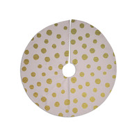 "Nika Martinez ""Golden Dots & Pink"" Blush Christmas Tree Skirt"