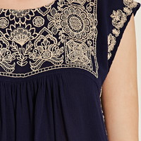 Embroidered Gauze Top | Forever 21 - 2000176148