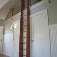 Custom Stationary Loft Ladder | Historic Flooring