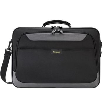 Targus TCG058T-70 CityGear Clamshell Polyester Laptop Case w/DOME Shock Dispersion - Fits 15.6 (Black/Gray)