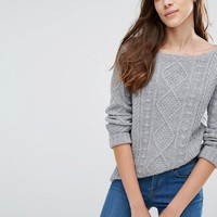 Jack Wills Heathcliffe Aran Boat Neck Sweater at asos.com