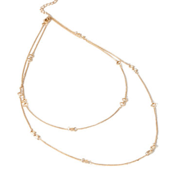 Geo-Cutout Chain Necklace