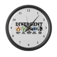 Divergent Symbols White Large Wall Clock