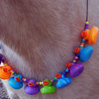 Colorful Rubber Ducky Equine Necklace for Easter -- Necklace for Minis, Ponies, Riding Horses, or Draft Horses