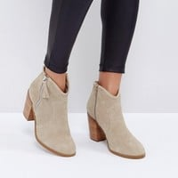 ASOS EMMIE Suede Ankle Boots at asos.com