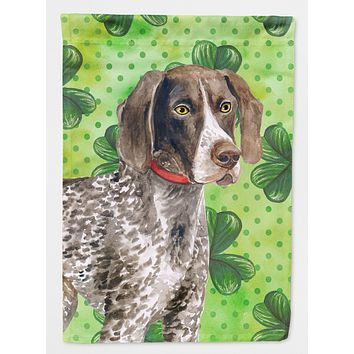 German Shorthaired Pointer St Patrick's Flag Canvas House Size BB9815CHF