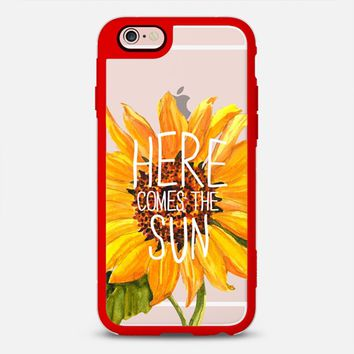 iPhone Case With Interchangeable Back Plates by Casetify | Here Comes the Sun Design by Sara Eshak (iPhone 6, 6s, 6 Plus, 6s Plus, 7)