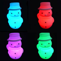 Snowman Christmas Gift Christmas Tree Decoration with Changing Light Color = 1842222660