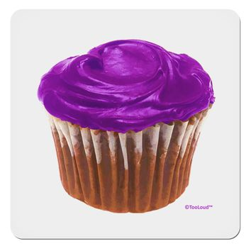 "Giant Bright Purple Cupcake 4x4"" Square Sticker by TooLoud"